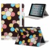 Funda de piel de moda estilo Girasoles color café para iPad Mini
