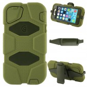 Griffin Survivor Extreme-duty Case with Holder + 180 Degree Rotatable Clip for iPhone 5/5S Army Green