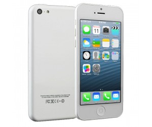 i5C IOS 7.0 UI MTK6515 Smartphone Android 4.1.9 With Wi-Fi 4 Inch Capacitive Touch Screen White