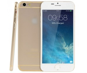 Goophone i6 1:1 Golden 8GB 4.7pul Android 4.4.2 MTK6582 Quad Core 1.3GHz RAM 512MB WCDMA/GSM