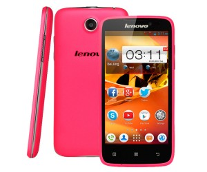 Lenovo A516 Pink 4.5 inch 3G Smart Phone Android 4.2.2 MTK6572 Dual Core RAM 512MB ROM 4GB