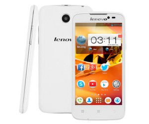 Lenovo A516 White 4.5 inch 3G Smart Phone Android 4.2.2 MTK6572 Dual Core RAM 512MB ROM 4GB