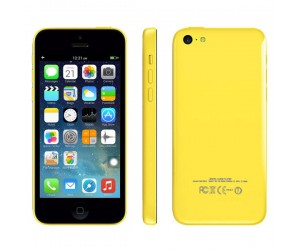 Smartphone 5c Yellow GPS+AGPS Android 4.1.2 IOS UI ROM 4GB RAM 512MB Dual Core IPS Screen