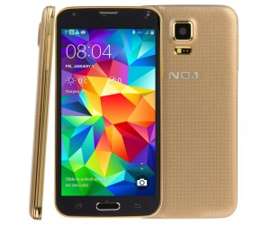 SmartPhone NO.1 S5+ Golden 5.0in 3G Android 4.2.2 QuadCore 1.3GHz RAM 1GB 4D Gestures Activation