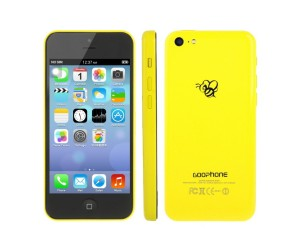 GOOphone i5c Yellow GPS+AGPS Android 4.1.2 Dual Core ROM 4GB RAM 512MB 4.0 inch IPS Screen
