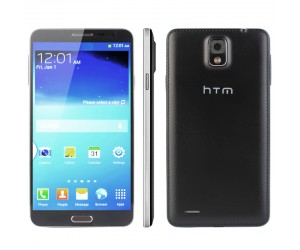 Celular Htm H100 Negro 5.7Pulg 3G Android 4.2.1 Octa Core MTK6592 1.7GHz RAM 2GB ROM 16GB
