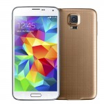 3G Phablet G900F S5 Golden 5.0in Quad Core Heart Rate FingerPrint Unlock Function Motions and Gestures 4GB+512MB