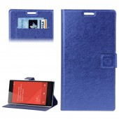 Flip Case Hairline Texture with Credit Card Slots & Holder for Xiaomi Redmi Note Dark Blue