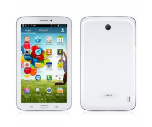 JXD P1000M Tablet PC with GPS/2G/GSM Android 4.2 Dual-Camera 7 inch IPS Screen White