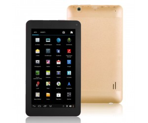 VG-V8 Tablet PC Dual-Core Android 4.2 HDMI/4G R0M/Dual-Camera 7 inch Touch Screen Gold