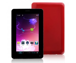 Cellphone Tablet PC T730 2G GSM with Android 4.0.4 Bluetooth 4G ROM 7inch HD Screen Red