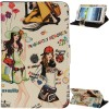 Universal Fashion Girl Pattern Leather Case with Holder for 7.0 inch Tablet PC