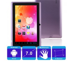 "Q88 4GB All Winner A13 512M Android 4.0.3 Tablet PC Purple 7"" Touch Screen and G-sensor"