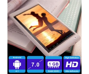 """Ramos W17 Quad Core Android 4.1 Tablet PC White 1G RAM 7"""" HD Capacitive Touch Screen"""