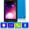 MS723B Allwinner Tablet PC Azul Android 4 2G 7 pulgadas Capacitiva Bluetooth 512MB 4G ROM