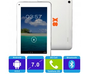 "SOXI X8 Elite 2G Android 4.0.4 Tablet PC White Bluetooth 512MB RAM 7"" Capacitive Touch"