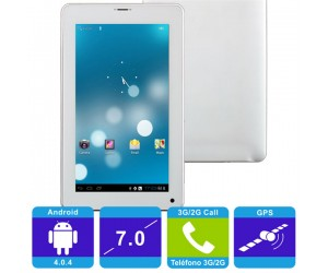 """Qualcomm Dual Core Android 4.0.4 Tablet PC White 3G Bluetooth GPS 512MB RAM 7"""" Capacitive"""