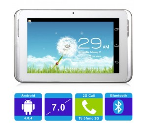 "AMPE A78 1.2GHz Android 4.0.4 Tablet PC 7"" White Capacitive Touch 2G Call Bluetooth"