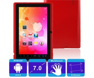 "Q88 4GB All Winner A13 512M Android 4.0.3 Tablet PC Red 7"" Touch Screen and G-sensor"
