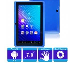 "Q88 4GB All Winner 512M Android 4.0 Tablet PC Blue 7"" Capacitive Touch Dual Camera"