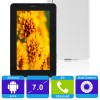 X6 4GB All Winner Tablet PC 512MB Android 4.0.4 capacitiva 7 pulgadas teléfono 2G Pin Finish