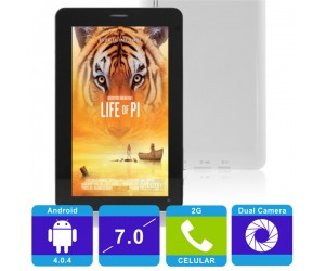 X4 4GB 512MB Android 4.0.4 Tablet PC 7 inch Capacitive Screen 2G Talk Function White Back Cover